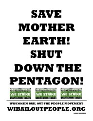 SAVE MOTHER EARTH PENTAGON WI BOPM Placard 8 2019