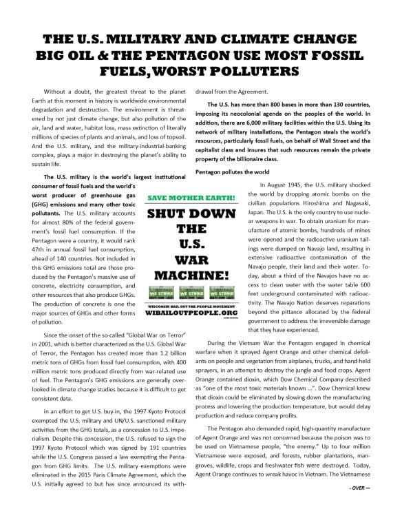 Pentagon FAQ Global Climate Strike WI BOPM 9 2019