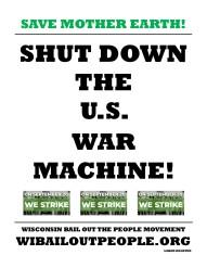 SAVE MOTHER EARTH SHUT DOWN U.S. WAR MACHINE 9 6 2019