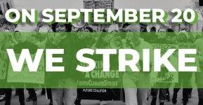 September 20 2019 Global Climate Strike Banner