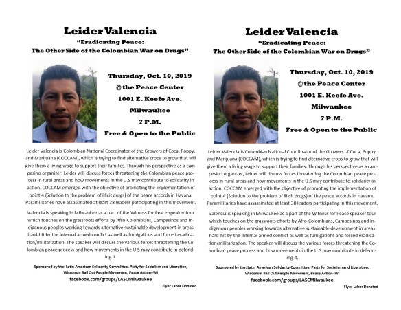 Leider Valencia Milwaukee October 10 2019 Flyer