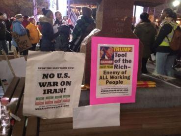 Trump protest Milwaukee 1 14 2020 Iran