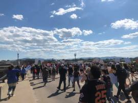 Crowd Bridge Roanoke VA May 30 2020