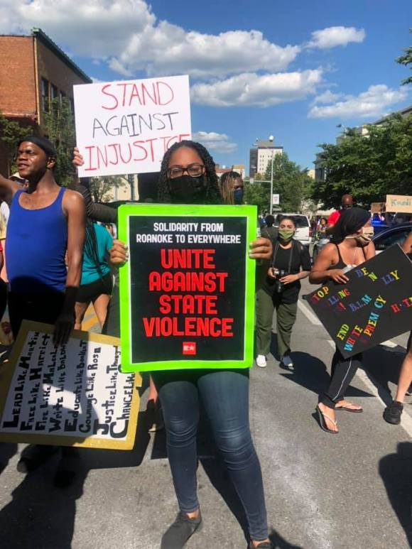 Unite Against State Violence Roanoke VA May 30 2020