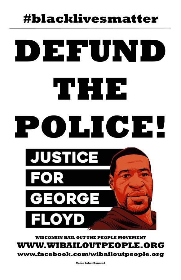 WI BOPM George Floyd Defund The Police Poster June 8 2020