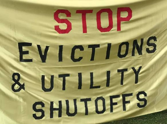 Stop Evictions & Utility Shutoffs Banner 7 23 2020