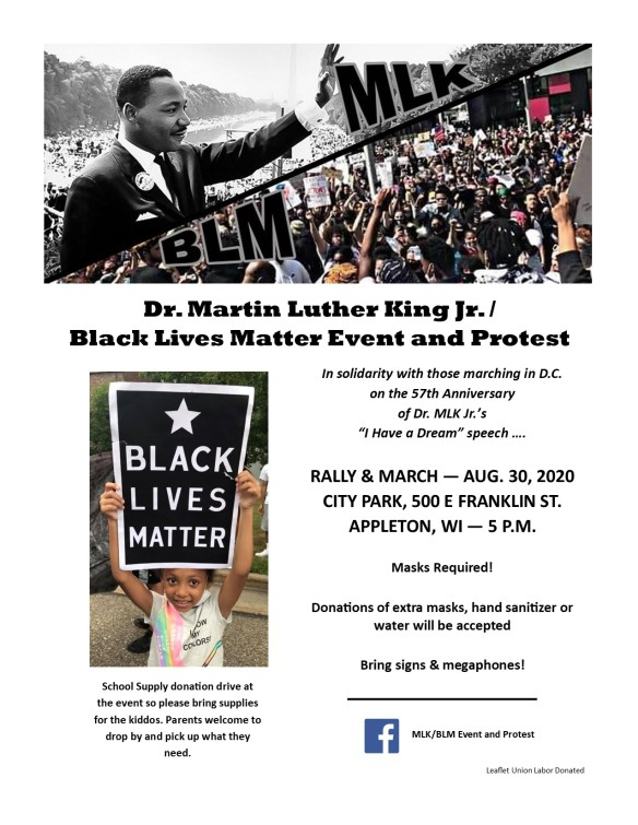 BLM MLK Appleton August 30 2020 LEAFLET