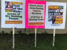 Protest Trump Signs August 17 2020 Oshkosh